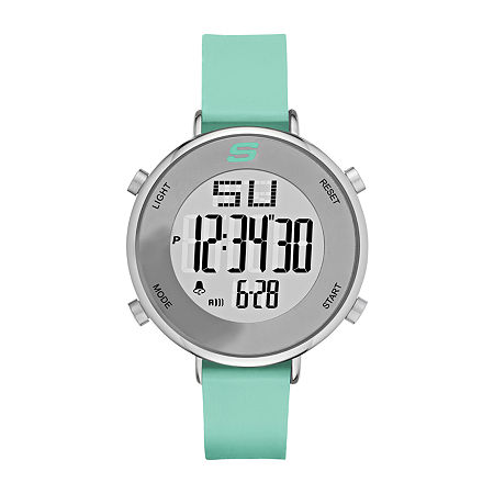 Skechers Magnolia Womens Chronograph Digital Green Strap Watch-Sr6070, One Size