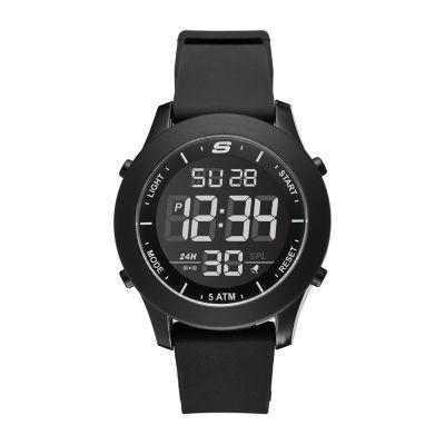 Skechers Rosencrans Digital Oversize Mens Black Strap Watch-Sr5107