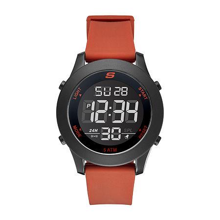 Skechers Rosencrans Digital Oversize Mens Chronograph Digital Red Strap Watch-Sr5109, One Size