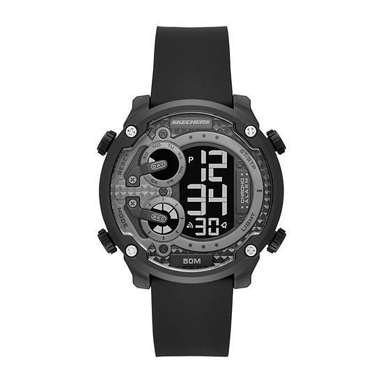 Skechers Gould Mens Chronograph Digital Black Strap Watch-Sr5116