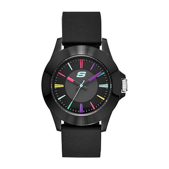 Skechers Rosencrans Midsize Womens Black Strap Watch-Sr6079