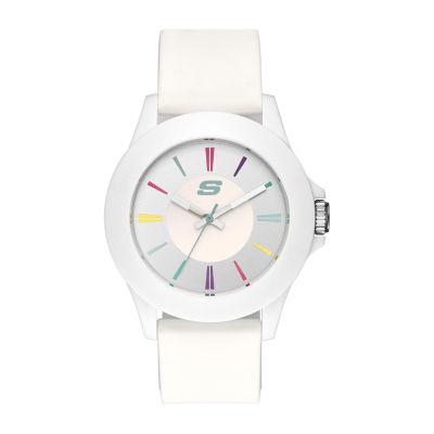 Skechers Rosencrans Midsize Womens White Strap Watch-Sr6080