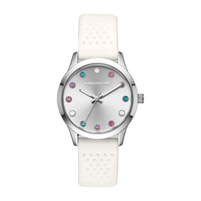 Skechers Dianthus Womens White Strap Watch-Sr6092