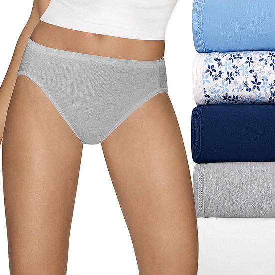 ca2001b6602 Hanes Ultimate Cool Comfort Cotton Ultra Soft 5 Pack High Cut Panty JCPenney