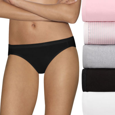 Hanes Ultimate™ Cool Comfort™ Cotton Ultra Soft 5 Pair Knit Hipster Panty 42hucc