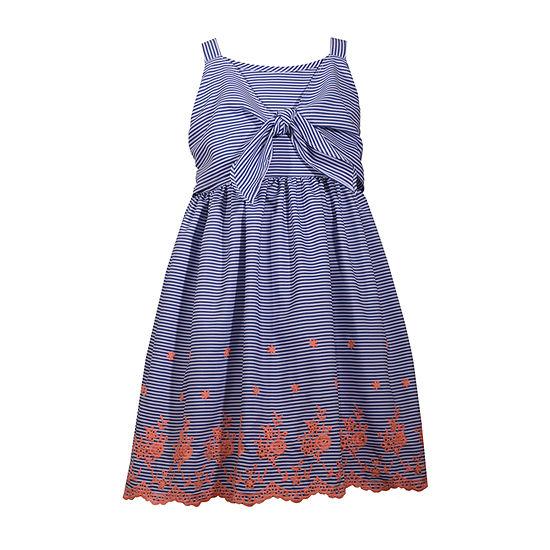 Bonnie Jean Girls Sleeveless Striped A-Line Dress