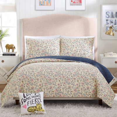 Makers Collective Provencal Poppies Floral Quilt Set