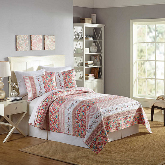 Mary Jane's Home Bright Blooms Floral Quilt