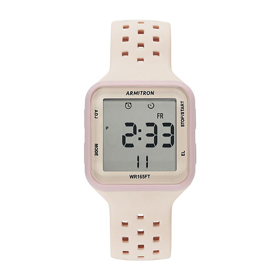 Armitron Pro Sport Unisex Adult Chronograph Pink Strap Watch-40/8417lbh