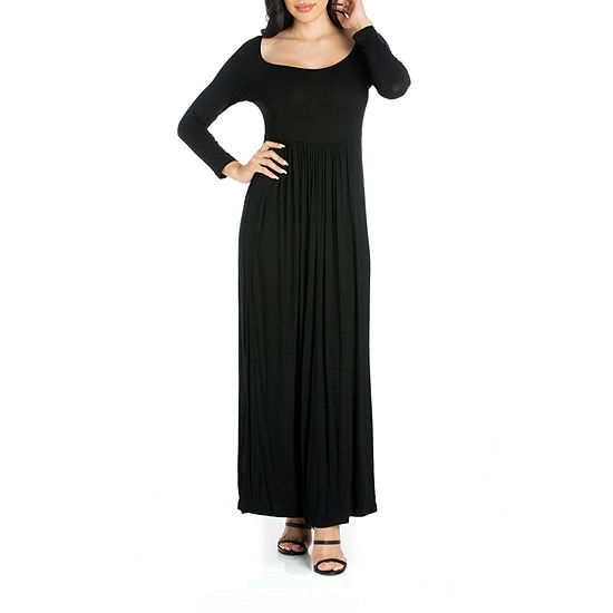 24/7 Comfort Apparel Long Sleeve Maxi Dress