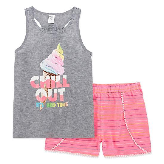 Arizona Chill Out 2pc Short Pajama Set Big Girls Plus