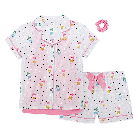 Arizona 4-pc. Shorts Pajama Set Preschool Girls
