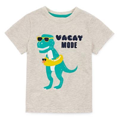 Okie Dokie Boys Crew Neck Short Sleeve Graphic T-Shirt-Toddler