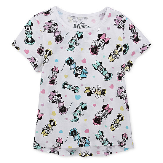 Disney Girls Round Neck Short Sleeve Minnie Mouse Graphic T-Shirt - Preschool / Big Kid