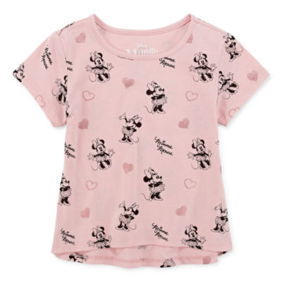 Disney Round Neck Short Sleeve Minnie Mouse Graphic T-Shirt Preschool / Big Kid Girls