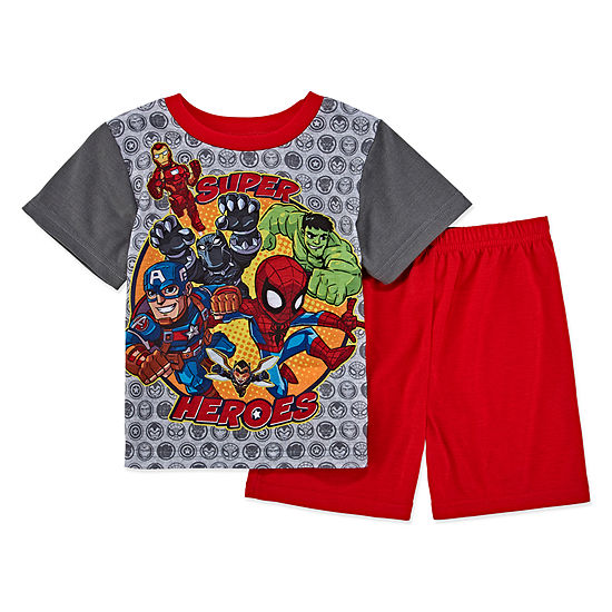 Avengers 2 Pc Avengers Pajama Set Toddler Boys