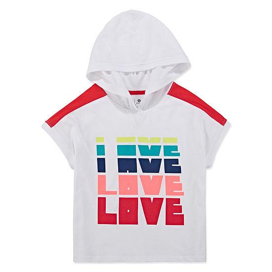 Xersion Short Sleeve Cropped Colorblock Hoodie - Girls' 4-16