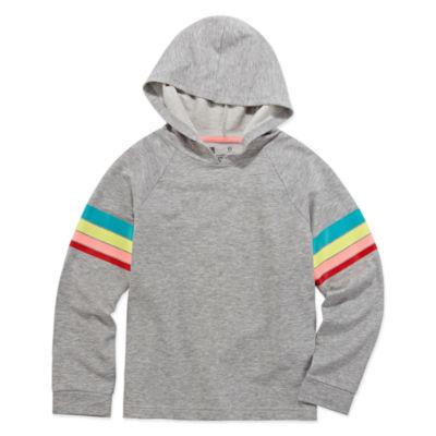 Xersion Rainbow Stripe Hoodie - Girls' 4-16
