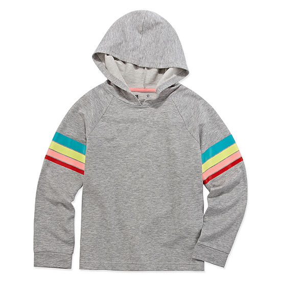 Xersion Rainbow Stripe Hoodie - Girls' 4-16