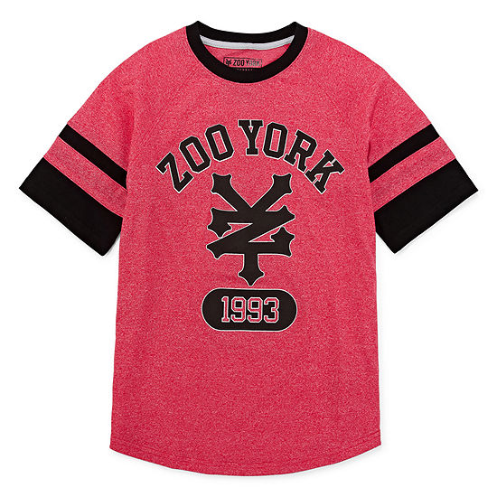 Zoo York Boys Crew Neck Short Sleeve Graphic T-Shirt - Big Kid