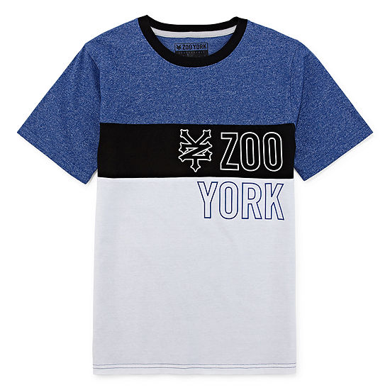 Zoo York Boys Round Neck Short Sleeve Graphic T-Shirt - Big Kid