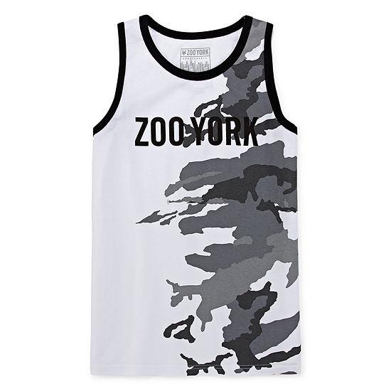 Zoo York Boys Round Neck Sleeveless T-Shirt-Big Kid