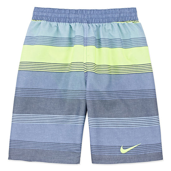 Nike Boys Striped Swim Trunks Big Kid