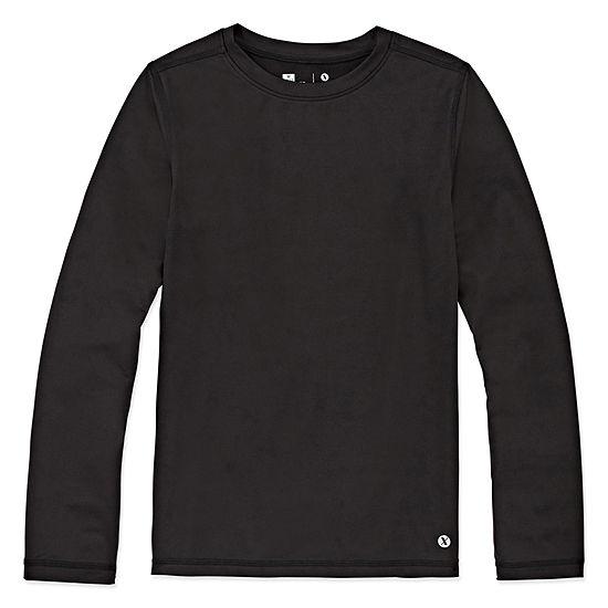 Xersion Boys Crew Neck Long Sleeve T-Shirt Preschool / Big Kid