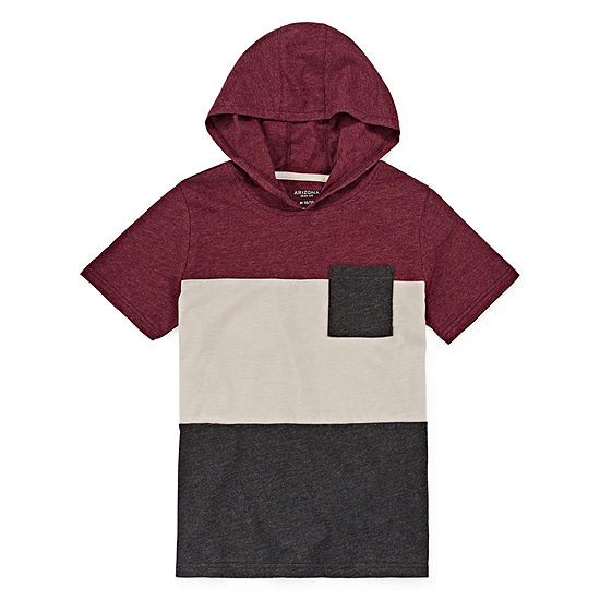 Arizona Boys Hooded Neck Short Sleeve T-Shirt