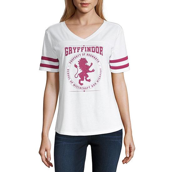 Womens V Neck Short Sleeve Harry Potter T Shirt Juniors