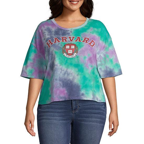Womens Round Neck Short Sleeve Graphic T-Shirt-Juniors
