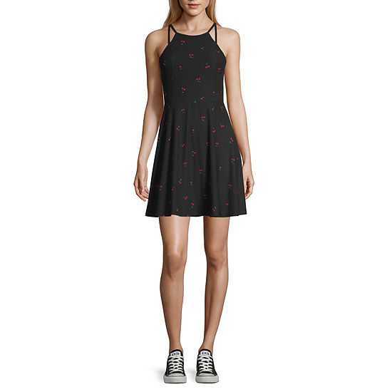 Arizona Sleeveless Fit & Flare Dress-Juniors