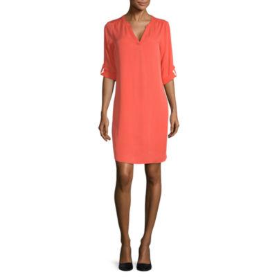 Worthington 3/4 Sleeve Shift Dress