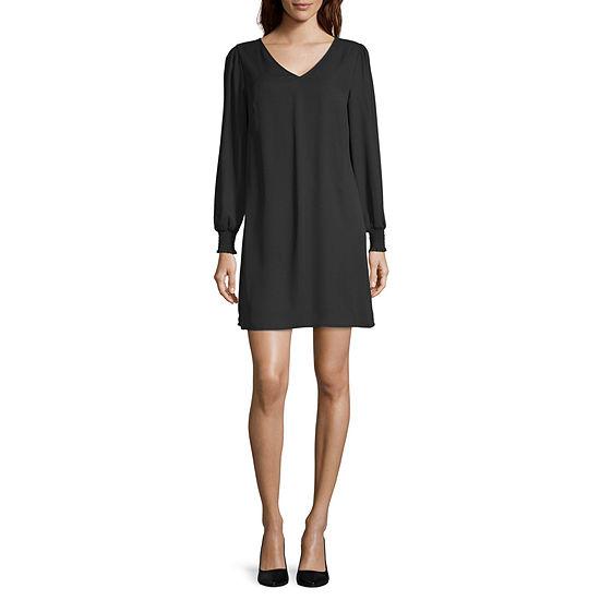 Worthington Long Sleeve Midi Sheath Dress