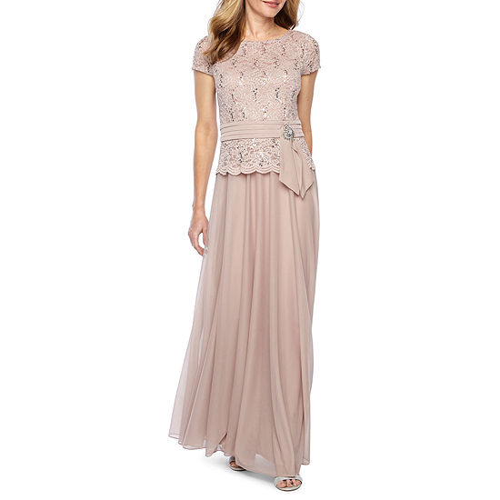 bc1edd62a Jackie Jon Short Sleeve Embellished Evening Gown - JCPenney