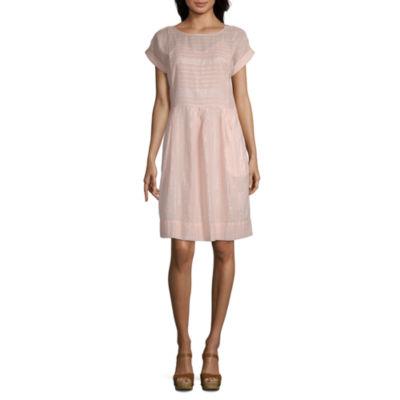 Peyton & Parker Short Sleeve Plaid Sheath Dress