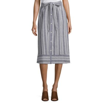 Peyton & Parker Womens Midi Full Skirt