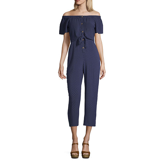 Society And Stitch Short Sleeve Jumpsuit Juniors
