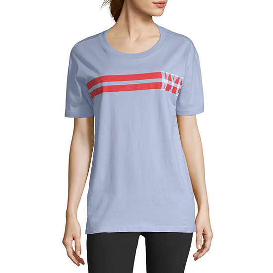 Flirtitude-Womens Round Neck Short Sleeve T-Shirt Juniors