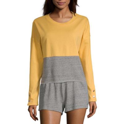 Flirtitude Womens Crew Neck Long Sleeve Sweatshirt Juniors