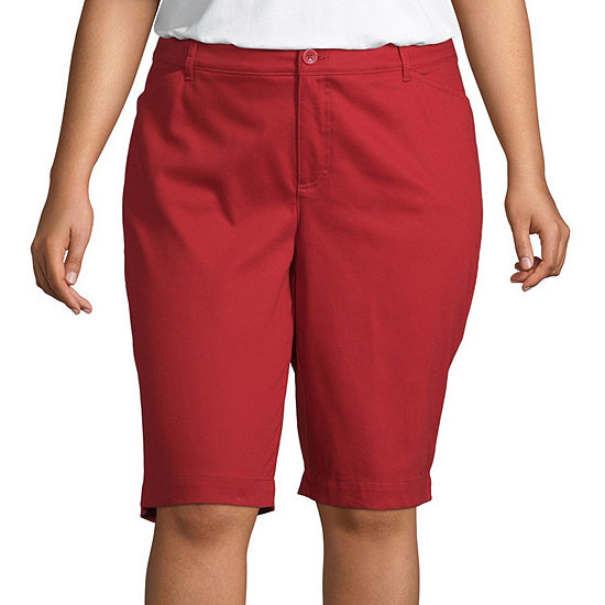 "St. John's Bay Womens 11 1/2"" Bermuda Short-Plus"