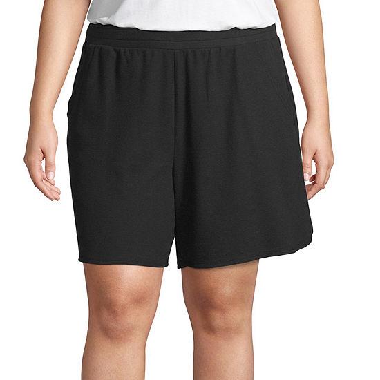 St. John's Bay Active Womens Soft Short-Plus
