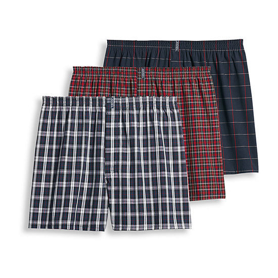 Jockey® 3 Pair Classic Full Cut Woven Boxer - Men's