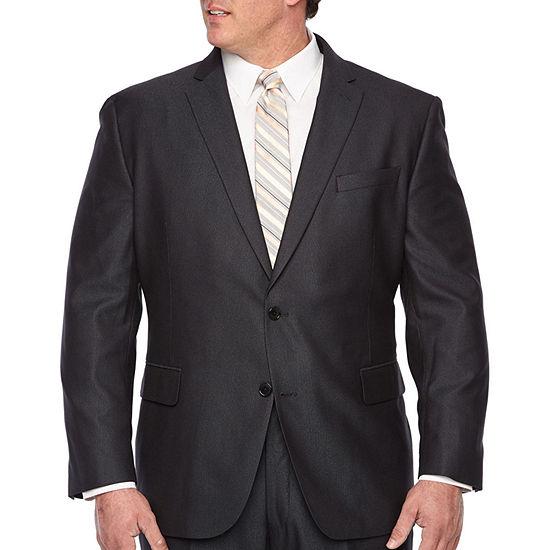 JF J.Ferrar-Big and Tall Striped Stretch Suit Jacket