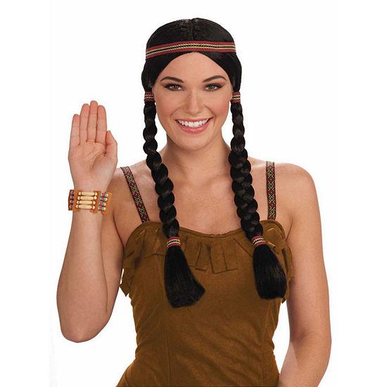Black Squaw Adult Wig