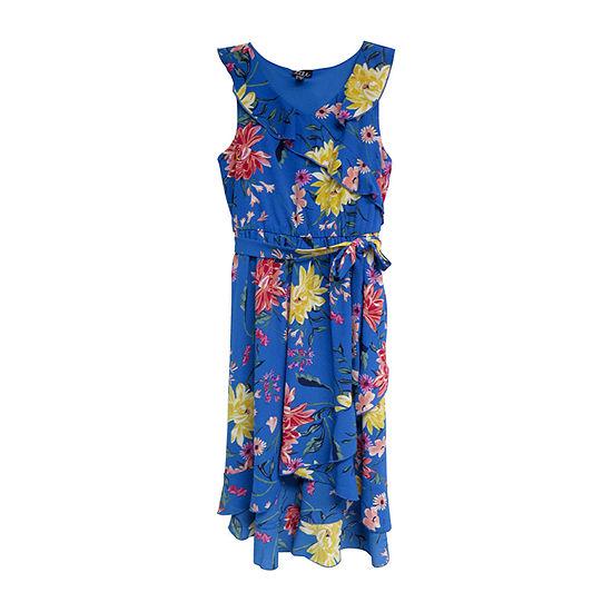 Lilt Girls Sleeveless Floral Maxi Dress - Big Kid
