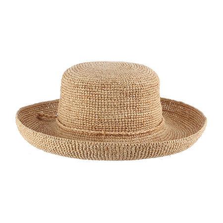 Edwardian Hats, Titanic Hats, Tea Party Hats Scala Bucket Hat One Size Fits Most  White $48.00 AT vintagedancer.com
