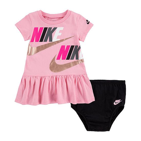 Nike Girls Short Sleeve A-Line Dress - Baby