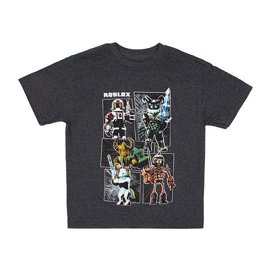 Little Kid / Big Kid Boys Crew Neck Roblox Short Sleeve Graphic T-Shirt