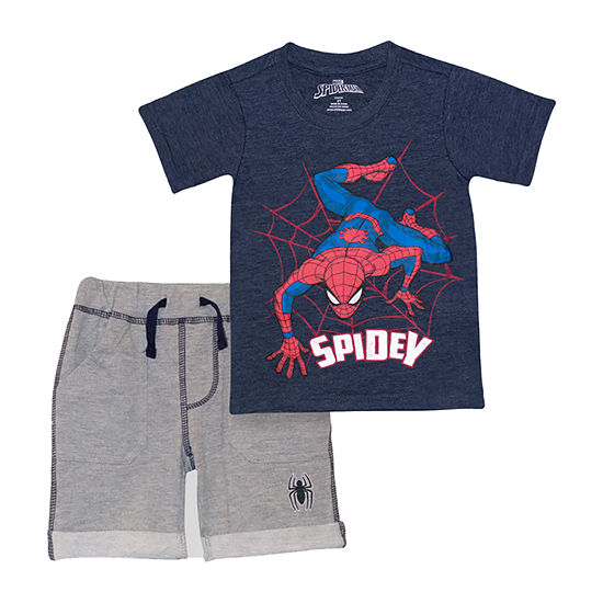 Marvel Toddler Boys 2-pc. Spiderman Short Set